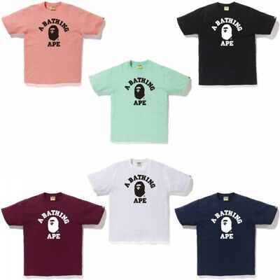 8d3eaf8f A BATHING APE Mens T-shirt BICOLOR COLLEGE TEE 6 Colors Fast Shipping Japan  EMS