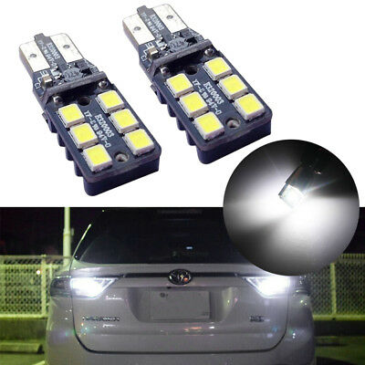 2X High Power Error Free White 2825 LED Bulbs For Euro Cars Backup Reverse Light