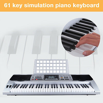 Modern Digital 61Tasten Keyboard Klavier EPiano 128 Sounds Rhythmen Lernfunktion