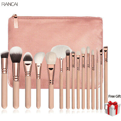 15PCS Kabuki Make up Brushes Set Makeup Foundation Blusher Face Powder Brush NEW