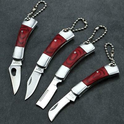1*Outdoor Camping Fishing Hunting Mini Pocket Folding Knife Stainless Steel Fast