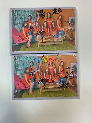 """Lovelyz """"Once Upon A Time"""" 6th Mini - Autographed(Signed) Promo Album (6.11 upda"""