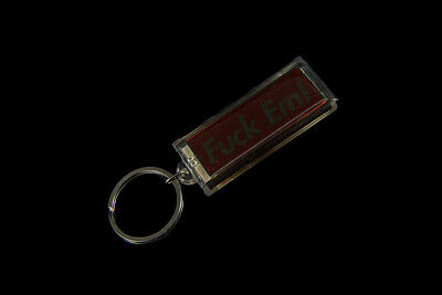 Supreme F*Ck Em' Flashing Solar Keychain Ss13 Accessory Red White Box Logo Cdg