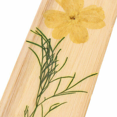 1PC Natural Dried Flowers Bamboo Material Bookmarks Chinese Style DIY Bookmark