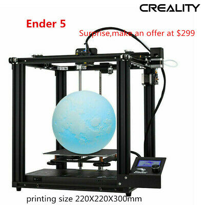 Newest Creality Ender 5 3D Printer 220X220X300mm DC 24V Christmas Promotion 2019