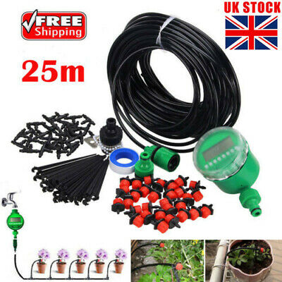 MICRO DRIP IRRIGATION System Auto Timer Plant Self Watering