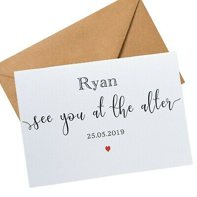 To My Groom Wedding Day Gift Card Personalised