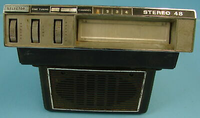 Stereo 48 Automobile Car 8 Track Tape Player Radio Made In Japan No. 4809126