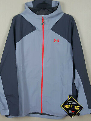 1563860e79657 Under Armour Storm Paclite Gore-Tex Jacket Grey Red New 1292055-941 (Size