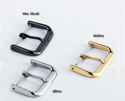 WUTA 1PCS 316L Stainless Steel Watch Pin Buckle Solid Metal Watch Strap Clasp