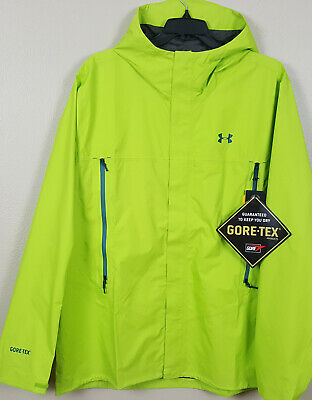 05ec9c7afacff Under Armour Storm Paclite Gore-Tex Jacket Lime Green New 1271465-324 (Size