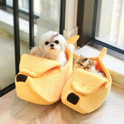 Pet Dog House Kennel Soft Igloo Beds Cave Cat Puppy Bed Doggy Warm Cushion Fold
