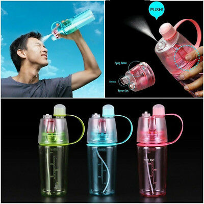 400/600ML Water Bottle With Straw Drink Spray Cup Climbing Cycling Outdoor Sport
