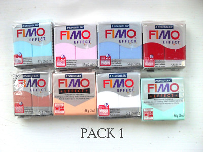 FIMO EFFECT Mixed Colour BARGAIN Packs,  Polymer Clay, 57g, CHOICES, Crafts