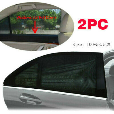 2pc Car Rear Window UV Mesh Sun Shades Blind Kid Child Sleeping Sunshade Blocker