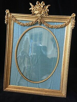 Very Fine Large Gilt Dore Bronze French Antique Photo Frame