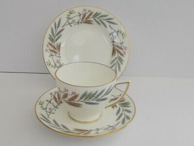 "Elegant Minton ""Avondale"" English Bone China Cup,Saucer,Plate Trio."
