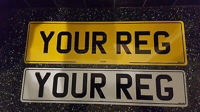 """Pair One 21""""x6"""" REAR CAR NUMBER PLATE RANGE ROVER 4 X 4 One Front 20.5 X 4,5 100"""