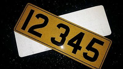 Small Car Number Plates 13 x 4.4 Road legal for 5 letters front & rear pair