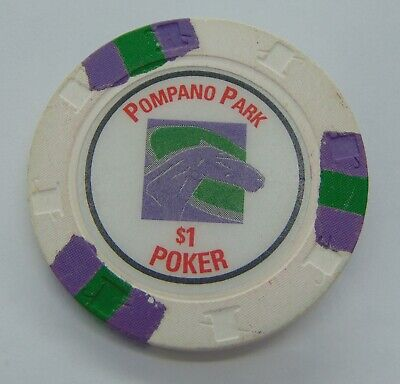 Casino Chip $1 Pompano Park Poker Gambling