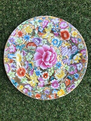 Vintage Chinese Side Plate Gold Floral Pattern
