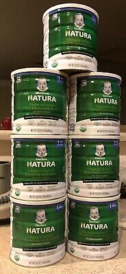 (7) Gerber Natura Organic Baby Infant Milk Powder Formula With Iron 23.2 OZ Cans