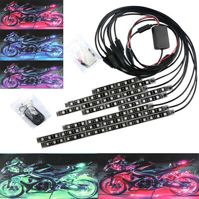 20W Motorcycle Car Led Underbody light kit with Wireless Remote Controller RGB