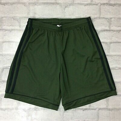 875a5ec78 Adidas Originals Mens Uk S Khaki Green Squadra 17 Climalite Poly Shorts  Sports