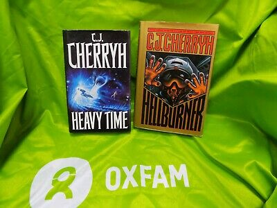 Heavy Time (1991) and Hellburner 1st editions by C. J. Cherryh