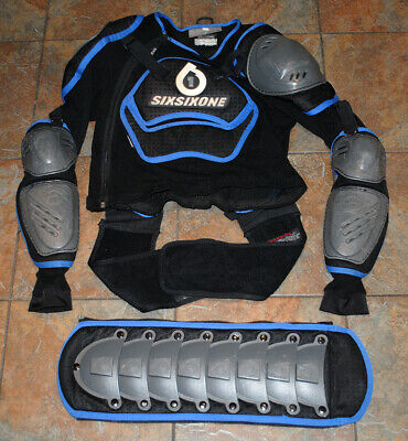SIX SIX ONE Motorcycle Body Armour with Spine Protector - WELL USED Adult Medium