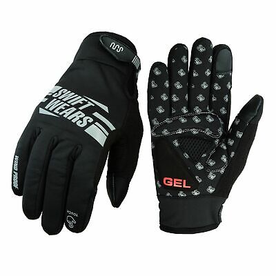 Swift Wears Cycling Gloves Windproof Gel Padded Touchscreen Full Finger Biking
