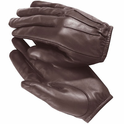 """made with Kevlar"" Anti Slash Fire Resistant Black Leather Gloves Security SIA"