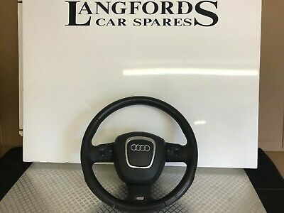 Audi A3 8P S Line Leather Functional Steering Wheel With Airbag 8P0419091
