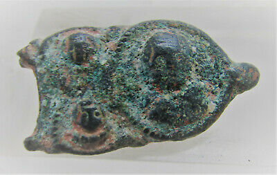 Rare & Interesting Byzantine Bronze Plate Brooch Depiction Of 3 Emperors