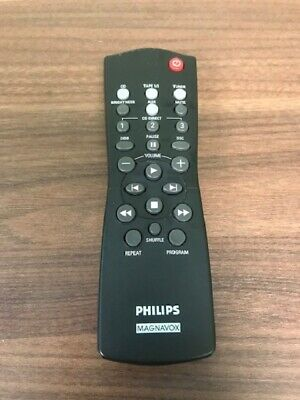 Philips Magnavox Model RC2822422/04B Replacement Remote Black Wireless Very Good