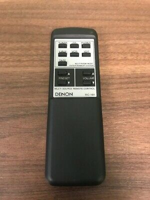 Denon Model RC-191 Replacement Remote Black Wireless Very Good