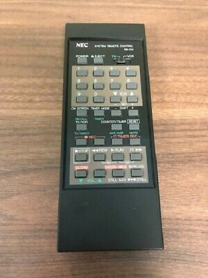 NEC Model RB-D10 Replacement System Remote Control Black Wireless Very Good