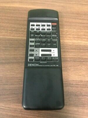 Denon Model RC-190 Replacement Remote Control Unit Black Wireless Very Good