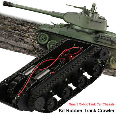 5864 Plastic Robot Tank Car Chassis Kit Toys Damping Effect Diy Education