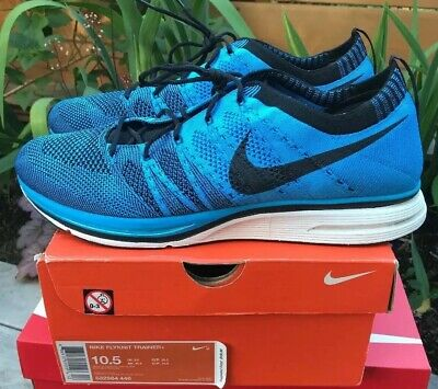 brand new d8941 18b7d Nike Flyknit Trainer+ Blue Glow 2012 HTM 532984-440 Size 10.5 with OG box