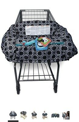 Infantino Kids Shopping Cart & Public High Chair Cover Black And White
