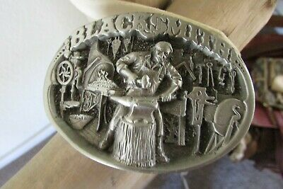 Vintage 1986 Great American Pewter Black Smith Belt Buckle, Usa