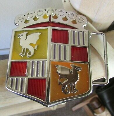 Vintage B.A.D. Motor Company 1948 Dragon Crest Shield Coat of Arms Belt Buckle