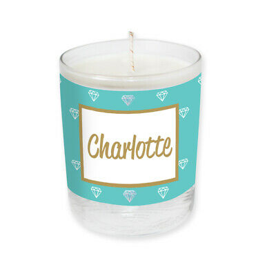 Personalised Name Soya Candle Mint Label -Add Your Name & Choose Your Fragrance