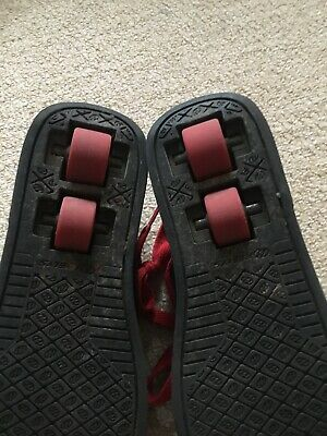 Red and Black Heeleys size 3