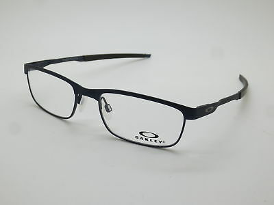 NEW Authentic OAKLEY STEEL PLATE OX3222-0352 Powder Midnight 52mm Rx Eyeglasses