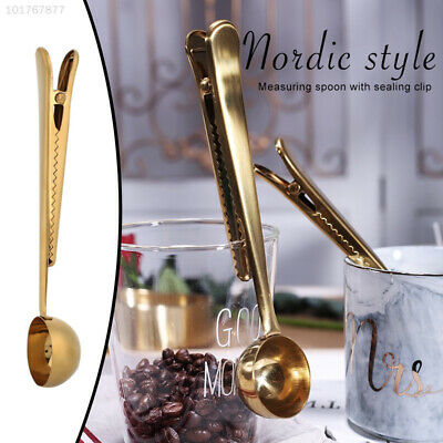 6024 Stainless Steel Food Sealing Clip Measuring Spoon Rose Gold Clip
