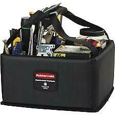 Rubbermaid Commercial Executive Quick Cart Caddy, Small, Dark Gray