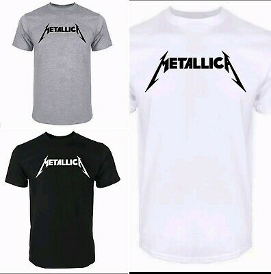 5e2caa94 METALLICA Printed Logo T-Shirt FREE SHIPPING Rock Metal Tee S-XL MEN &