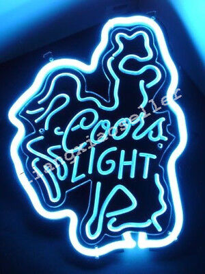 Coors Light HORSE 3D Acrylic Beer Bar Pub Man Cave Real Neon Sign